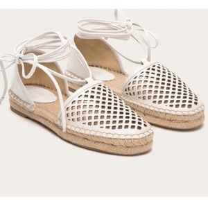 SALE! Frye Lace Up Perforated Toe Espadrilles